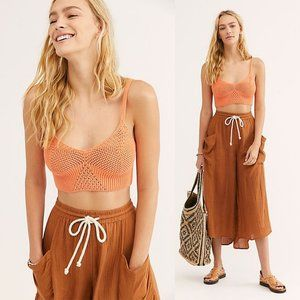 NEW🌸FREE PEOPLE You Wanna Brami Crochet Bralette